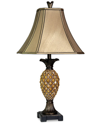 Stylecraft pineapple table lamp lighting lamps home macys stylecraft pineapple table lamp aloadofball Images