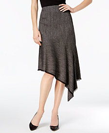 Anne Klein Asymmetrical Twill Skirt