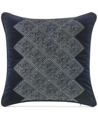 "Leighton Embroidered 14"" Square Decorative Pillow"