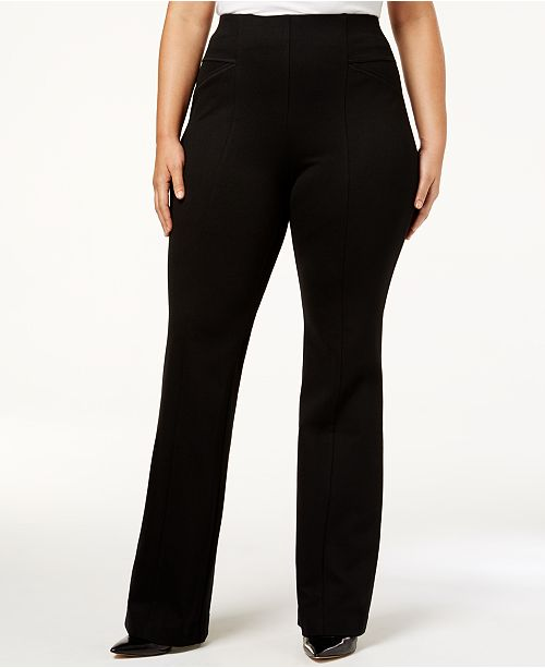4041b52725 INC International Concepts I.N.C. High-Waist Bootcut Ponte Pants ...