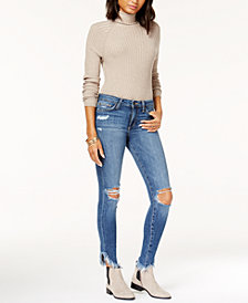 Joe's Jeans The Icon Ankle w/ Diagonal Fray Hem Jeans