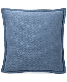 CLOSEOUT! Lucky Brand Medallion Matelasse European Sham, Created for Macy's
