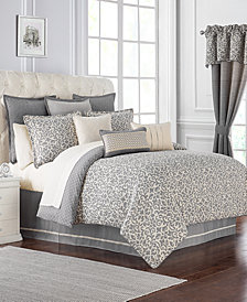 Waterford Reversible Charlize Reversible 3-Pc. Gray Queen Comforter Set