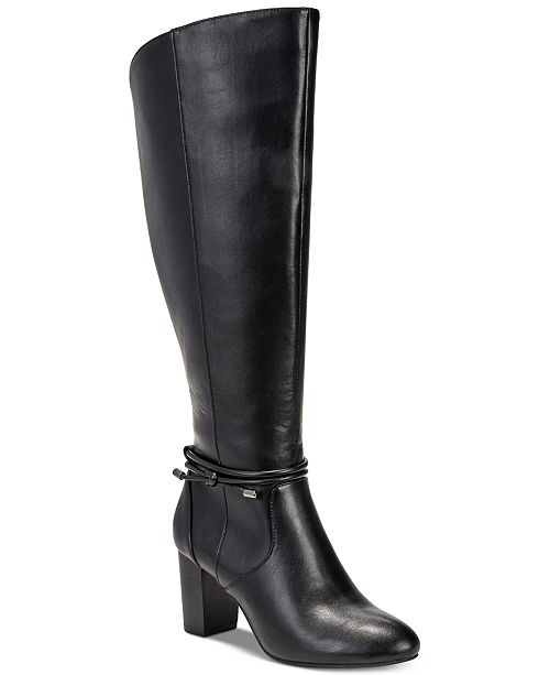 48a96b54e68 Alfani Women s Step  N Flex Giliann Wide-Calf Dress Boots