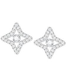 Swarovski Silver-Tone Crystal Star Stud Earrings