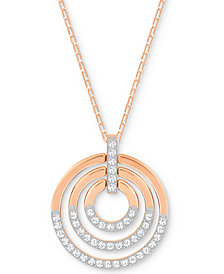 Swarovski Crystal Multi-Circle Pendant Necklace