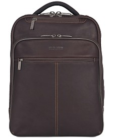 "Kenneth Cole Reaction 16"" EZ-Scan Colombian Leather Computer Backpack"