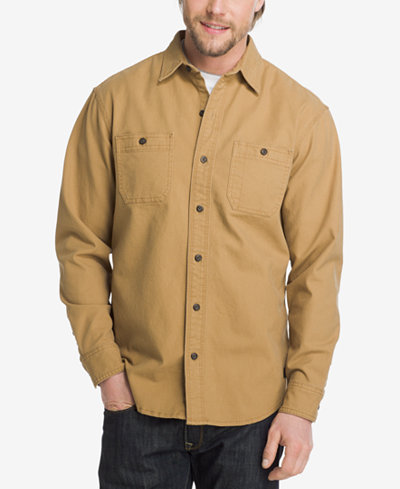 G.H. Bass & Co. Men's Mountain Peak Stretch Canvas Shirt - Casual ...
