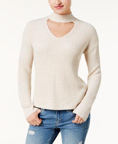 American Rag Juniors' Choker Sweater, Created for Macy's