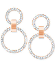 "Swarovski Pavé Double-Hoop 1-1/2"" Chandelier Earrings"