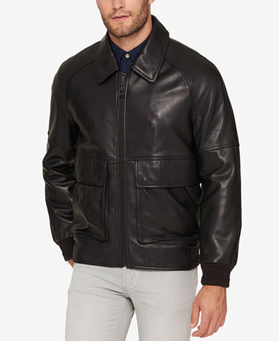 Marc New York Men's Leather Bomber Jacket - Coats & Jackets - Men ...