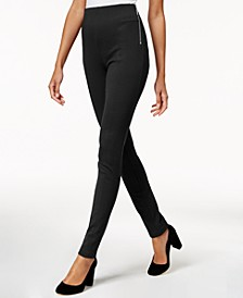 INC Petite Zip-Detail Skinny Pants, Created for Macy's