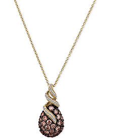Le Vian Chocolatier® Chocolate Diamonds® Pendant Necklace  (1-1/8 ct. t.w.) in 14k Gold