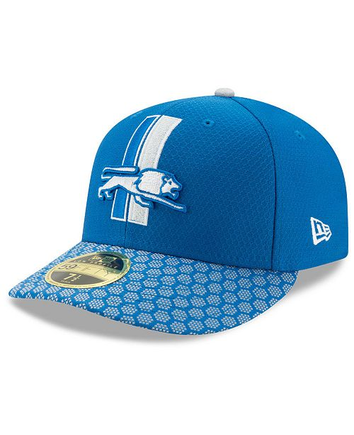 low cost 9904e d3d23 ... New Era Detroit Lions Sideline Low Profile 59FIFTY Fitted Cap ...