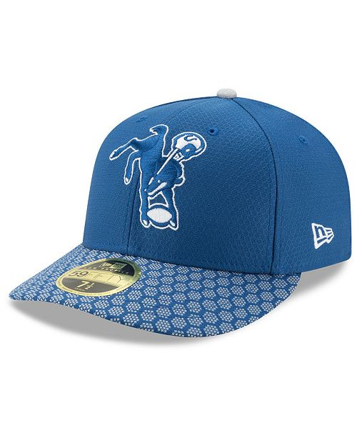 New Era Indianapolis Colts Sideline Low Profile 59FIFTY Fitted Cap ... 76d4156d93f