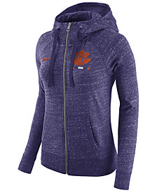 Nike Women's Clemson Tigers Gym Vintage Full-Zip Hoodie