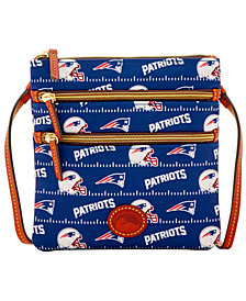 Dooney & Bourke New England Patriots Nylon Triple Zip Crossbody