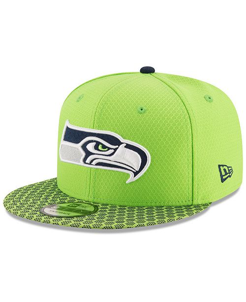 online retailer 88334 e2e98 New Era. Boys  Seattle Seahawks 2017 Official Sideline 9FIFTY Snapback Cap.  Be the first to Write a Review. main image  main image ...