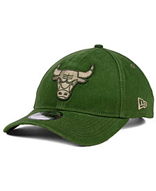 New Era Chicago Bulls All Olive 9TWENTY Dad Cap