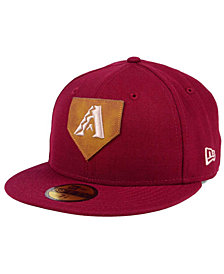 New Era Arizona Diamondbacks The Logo of Leather 59FIFTY Fitted Cap