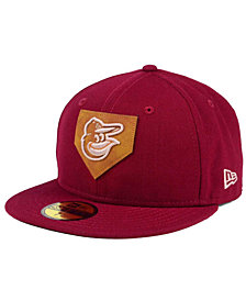 New Era Baltimore Orioles The Logo of Leather 59FIFTY Fitted Cap