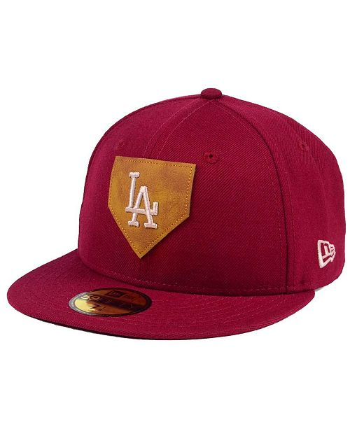 timeless design 2c1ee 6a5da ... New Era Los Angeles Dodgers The Logo of Leather 59FIFTY Fitted Cap ...