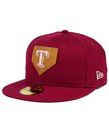 New Era Texas Rangers The Logo of Leather 59FIFTY Fitted Cap