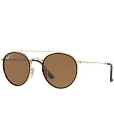 Ray-Ban Polarized Sunglasses , RB3647N ROUND DOUBLE BRIDGE