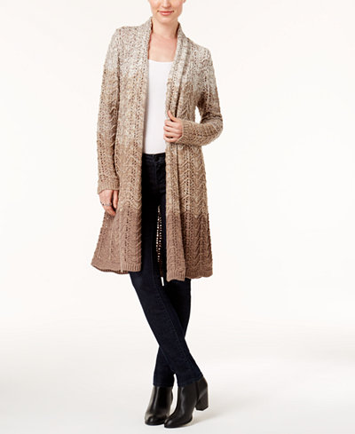 Style & Co Petite Ombré Duster Cardigan, Created for Macy's ...