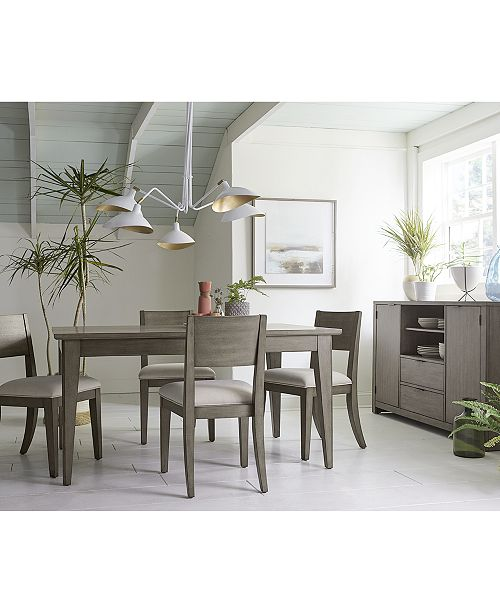 Furniture Tribeca Grey Expandable Dining Room Collection Created For Macy S