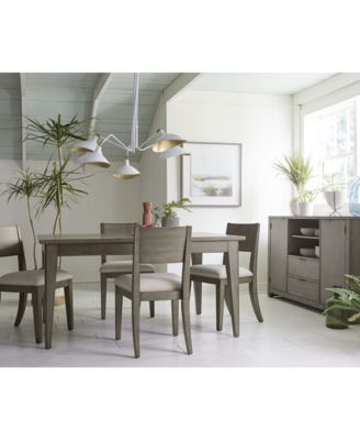 Furniture Tribeca Grey Expandable Dining Room Furniture Collection, Created  For Macyu0027s   Furniture   Macyu0027s