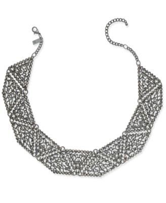 Image of INC International Concepts Hematite-Tone Gray Pavé Statement Necklace, Created for Macy's