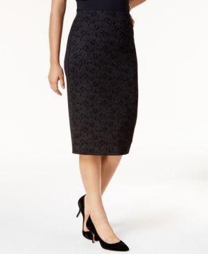 Alfani Metallic Lace Midi Skirt, Created for Macy's thumbnail