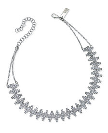 I.N.C. Silver-Tone Cubic Zirconia Choker Necklace, Created for Macy's