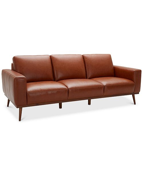 "Macysfurniture Com: Furniture Marsilla 88"" Leather Sofa, Created For Macy's"