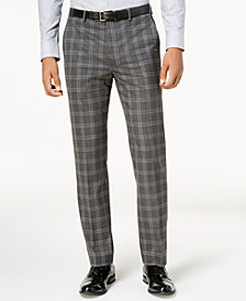 Sean John Men's Slim-Fit Gray Windowpane Pants