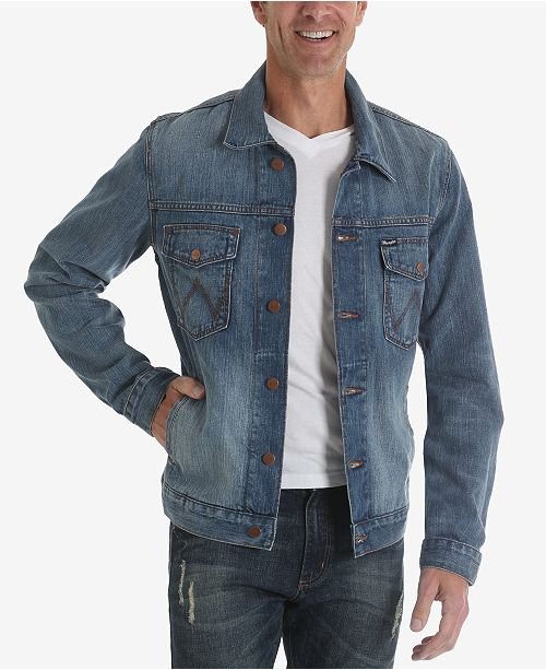 65b12fa6 Wrangler Men's Western Jean Jacket; Wrangler Men's Western Jean Jacket ...