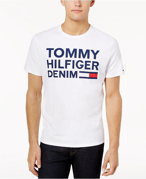 17d3a4a4 Tommy Hilfiger Men's Graphic-Print T-Shirt & Reviews - T-Shirts ...