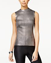 XOXO Juniors' Metallic Mock-Neck Tank Sweater