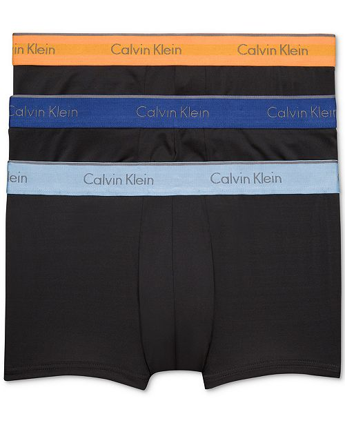 19e8539b29836 Calvin Klein Men's Microfiber Stretch Trunk 3-Pack & Reviews ...