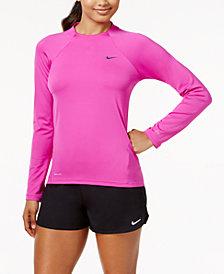 Nike Long-Sleeve Rash Guard & Swim Shorts
