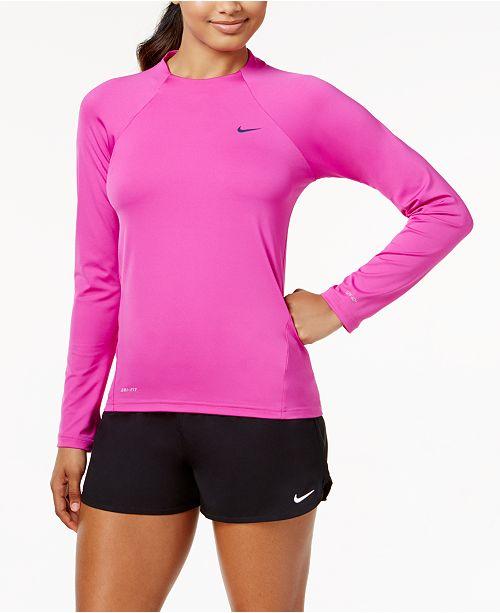 3d5dcf2c46 Nike Long-Sleeve Rash Guard & Swim Shorts & Reviews - Swimwear ...