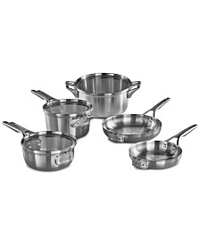 Calphalon Premier Space-Saving 8-Pc. Stainless Steel Cookware Set