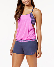 Nike Sport Layered Tankini Top & Boardshorts