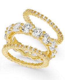 Joan Boyce 3-Pc. Set Crystal Rings