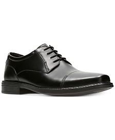 Bostonian Men's Wenham Black Leather Dress Cap-Toe Oxfords