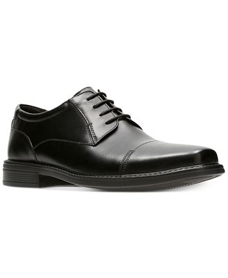 Bostonian Wenham Cap (Black) Mens Slip-on Dress Shoes