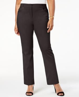 Plus & Petite Plus Size Tummy Control Curvy-Fit Pants