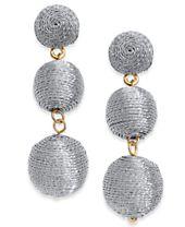 I.N.C. Gold-Tone Threaded Ball Drop Earrings, Created for Macy's