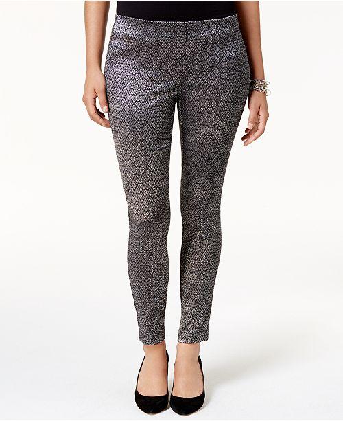 Alfani Jacquard Skinny Pants, Created for Macy's
